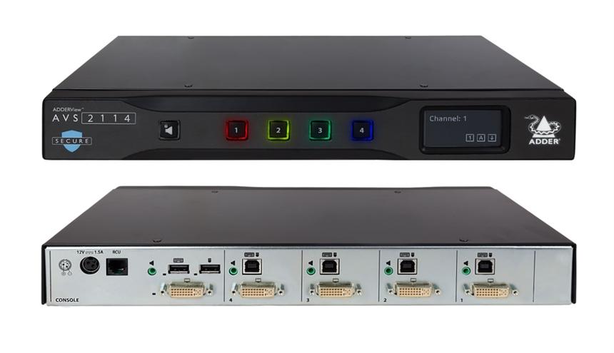 Switch KVM sécurisé – ADDER – ADDERView™ AVS 2114