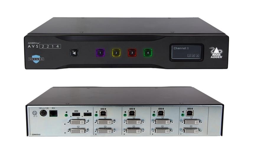 Switch KVM sécurisé – ADDER – ADDERView™ AVS 2214