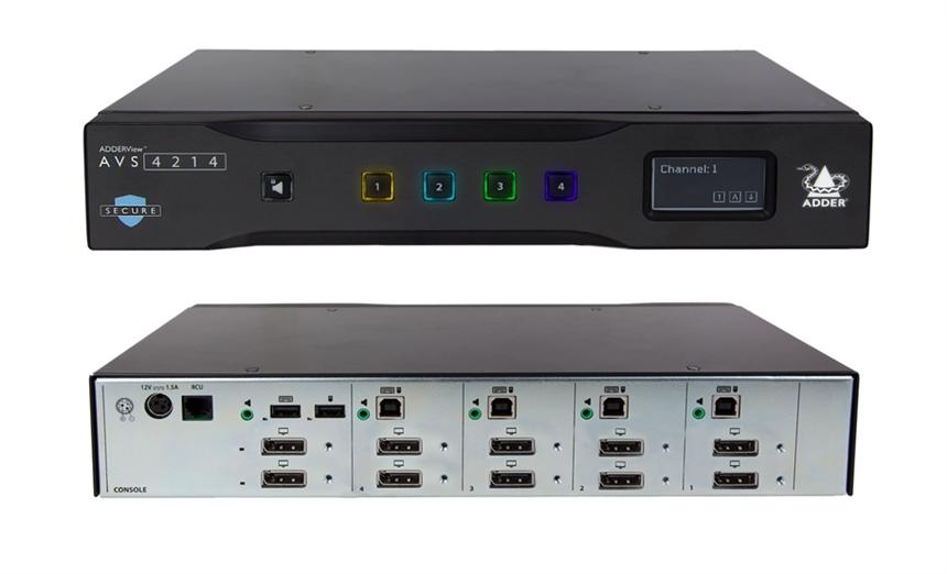 Switch KVM sécurisé – ADDER – ADDERView™ AVS 4214