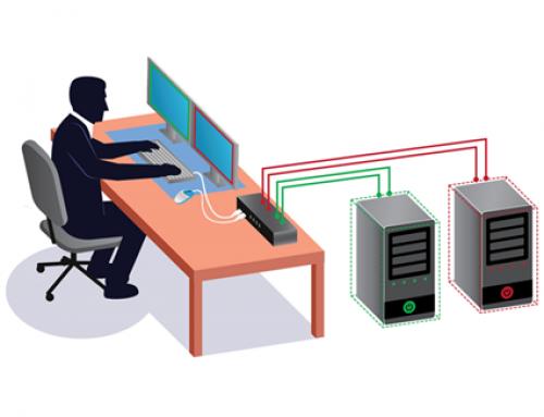 Switch KVM MCD-DUAL : contrôlez jusqu'à 8 ordinateurs double écran